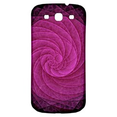 Purple Background Scrapbooking Abstract Samsung Galaxy S3 S Iii Classic Hardshell Back Case by BangZart