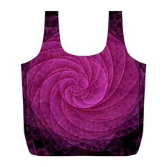 Purple Background Scrapbooking Abstract Full Print Recycle Bags (l)  by BangZart