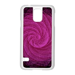 Purple Background Scrapbooking Abstract Samsung Galaxy S5 Case (white) by BangZart