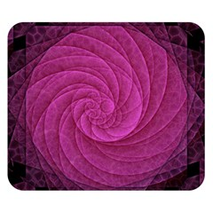 Purple Background Scrapbooking Abstract Double Sided Flano Blanket (small)  by BangZart