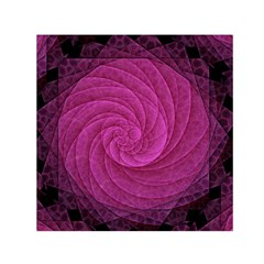 Purple Background Scrapbooking Abstract Small Satin Scarf (square) by BangZart