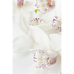 Orchids Flowers White Background 5 5  X 8 5  Notebooks by BangZart