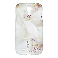 Orchids Flowers White Background Samsung Galaxy S4 I9500/i9505 Hardshell Case by BangZart