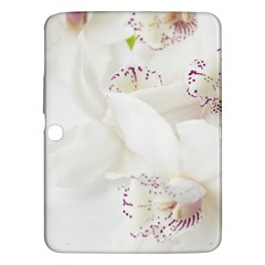 Orchids Flowers White Background Samsung Galaxy Tab 3 (10 1 ) P5200 Hardshell Case  by BangZart