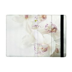 Orchids Flowers White Background Ipad Mini 2 Flip Cases by BangZart