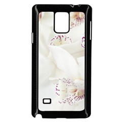 Orchids Flowers White Background Samsung Galaxy Note 4 Case (black) by BangZart