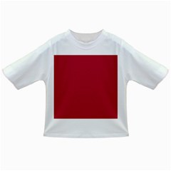 Usa Flag Red Blood Red Classic Solid Color  Infant/toddler T Shirts by PodArtist
