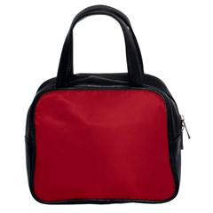 Usa Flag Red Blood Red Classic Solid Color  Classic Handbags (2 Sides) by PodArtist