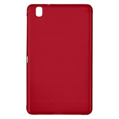 Usa Flag Red Blood Red Classic Solid Color  Samsung Galaxy Tab Pro 8 4 Hardshell Case by PodArtist