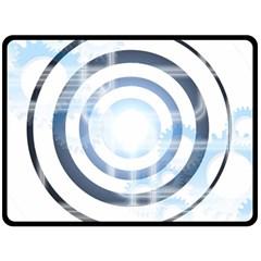 Center Centered Gears Visor Target Fleece Blanket (large)  by BangZart