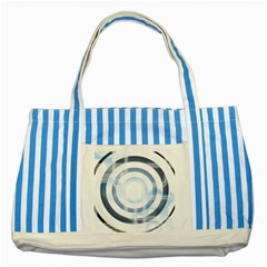 Center Centered Gears Visor Target Striped Blue Tote Bag by BangZart