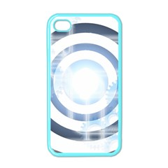 Center Centered Gears Visor Target Apple Iphone 4 Case (color) by BangZart
