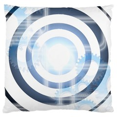 Center Centered Gears Visor Target Large Cushion Case (one Side) by BangZart