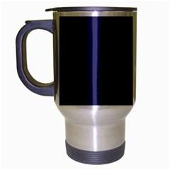 Usa Flag Blue Royal Blue Deep Blue Travel Mug (silver Gray) by PodArtist