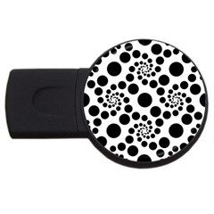 Dot Dots Round Black And White Usb Flash Drive Round (4 Gb) by BangZart