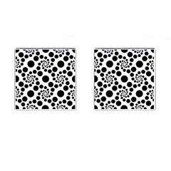 Dot Dots Round Black And White Cufflinks (square) by BangZart