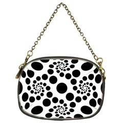 Dot Dots Round Black And White Chain Purses (one Side)  by BangZart