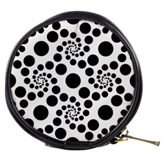 Dot Dots Round Black And White Mini Makeup Bags by BangZart