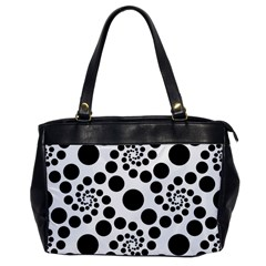 Dot Dots Round Black And White Office Handbags by BangZart