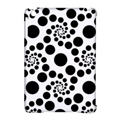 Dot Dots Round Black And White Apple Ipad Mini Hardshell Case (compatible With Smart Cover) by BangZart