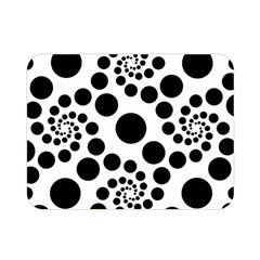 Dot Dots Round Black And White Double Sided Flano Blanket (mini)  by BangZart