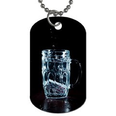 Glass Water Liquid Background Dog Tag (one Side) by BangZart