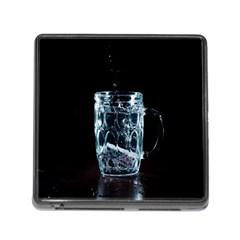 Glass Water Liquid Background Memory Card Reader (square) by BangZart