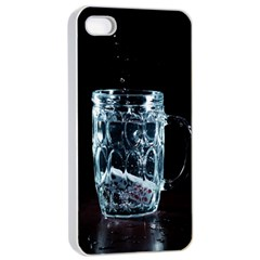 Glass Water Liquid Background Apple Iphone 4/4s Seamless Case (white) by BangZart