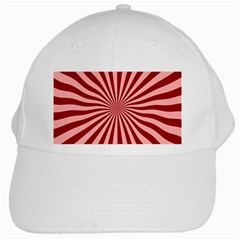 Sun Background Optics Channel Red White Cap by BangZart