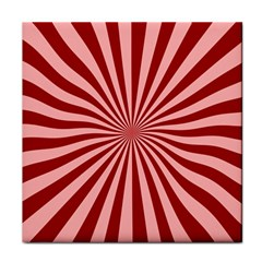 Sun Background Optics Channel Red Tile Coasters by BangZart