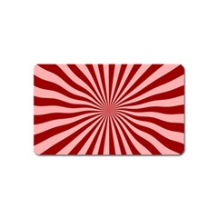 Sun Background Optics Channel Red Magnet (name Card) by BangZart