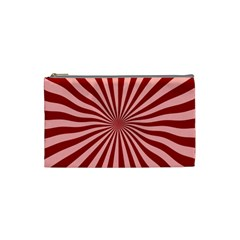 Sun Background Optics Channel Red Cosmetic Bag (small)  by BangZart