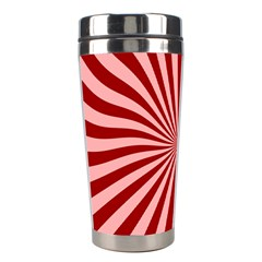 Sun Background Optics Channel Red Stainless Steel Travel Tumblers by BangZart