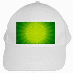 Radial Green Crystals Crystallize White Cap by BangZart