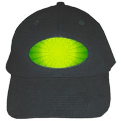 Radial Green Crystals Crystallize Black Cap by BangZart