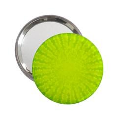 Radial Green Crystals Crystallize 2 25  Handbag Mirrors by BangZart