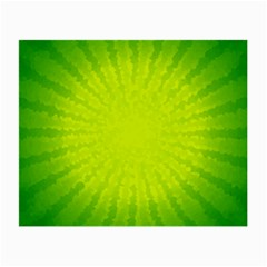 Radial Green Crystals Crystallize Small Glasses Cloth by BangZart