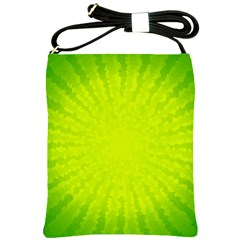 Radial Green Crystals Crystallize Shoulder Sling Bags by BangZart