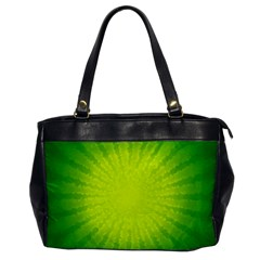 Radial Green Crystals Crystallize Office Handbags by BangZart