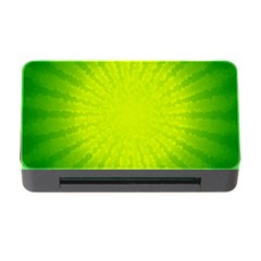 Radial Green Crystals Crystallize Memory Card Reader With Cf by BangZart