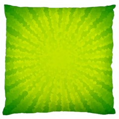 Radial Green Crystals Crystallize Large Cushion Case (two Sides) by BangZart