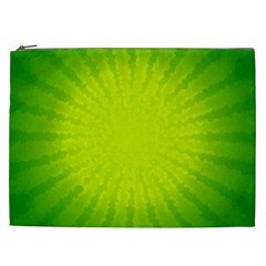 Radial Green Crystals Crystallize Cosmetic Bag (xxl)  by BangZart