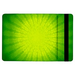 Radial Green Crystals Crystallize Ipad Air Flip by BangZart