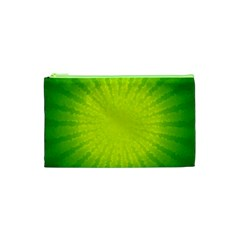 Radial Green Crystals Crystallize Cosmetic Bag (xs) by BangZart