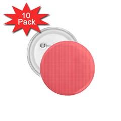 Christmas Red Velvet Mini Gingham Check Plaid 1 75  Buttons (10 Pack) by PodArtist