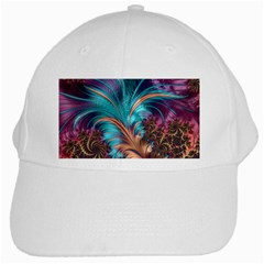Feather Fractal Artistic Design White Cap by BangZart