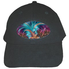 Feather Fractal Artistic Design Black Cap by BangZart