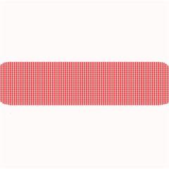 Christmas Red Velvet Mini Gingham Check Plaid Large Bar Mats by PodArtist