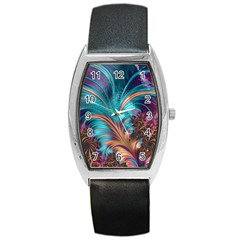 Feather Fractal Artistic Design Barrel Style Metal Watch by BangZart