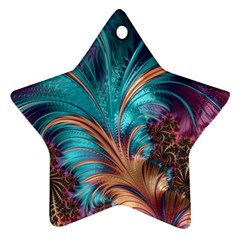 Feather Fractal Artistic Design Star Ornament (two Sides) by BangZart
